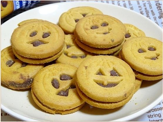 ○ハロウィン パンプキンサンドクッキー