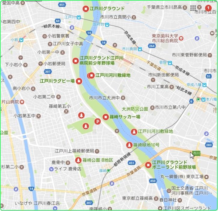 ●江戸川 緑地